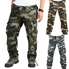 Mens Military Combat Trousers Cargo Camo Army Casual Work Out Hiking Long Pants