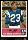 1962 Fleer #80 Paul Lowe Chargers GOOD $8.25 USD on eBay