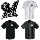 Milwaukee Brewers Striped Button Jersey Baseball Open T-Shirts Uniform 0107 on Ebay
