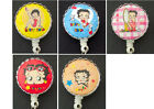 BETTY BOOP Retractable Reel ID Card Badge Holder/Key Chain/Security Ring $13.66 AUD on eBay