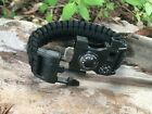USA Made Camo Green Black Red Blue Gray Tactical Emergency Survival Bracelet