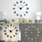 Diy 3d Wall Clock Roman Numerals Large Mirrors Surface Luxury Big Art Clock Home
