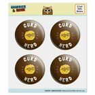 Curd Nerd Cheese Funny Humor Puffy Bubble Dome Scrapbooking Crafting Sticker Set