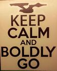 Star Trek Calm Boldly Sticker on eBay