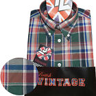 Warrior UK England Button Down Shirt MAYTONE Slim-Fit Skinhead Mod Retro