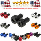 Aluminum Motorcycle Handle Bar End Sliders Cap Cover Plugs for Ducati Honda $15.84 USD on eBay