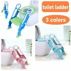 Trainer Toilet Potty Soft Padded Seat Chair With Ladder Step Up Training Stool image