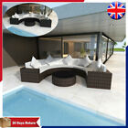 Garden Poly Rattan Half-round Sofa Outdoor Furniture Set Couch Lounge 21 Pieces