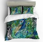 3D Peacock Feather Animal Duvet Cover Set Comforter Cover Pillowcase Quilt Cover