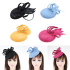Flower Feather Fascinator Top Hats Cocktail Tea Party Headwear for Girl Lady