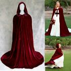 Hooded Adult Halloween Capes Cloak Party Vampire Witch Wicca Fancy Dress Vintage
