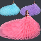 """Doll Dresses Long Tail Evening Gown Clothes For 11.8"""" Doll Wedding Dress"""