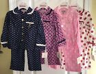NWT Juicy Couture Toddler Baby Girls Sleep Flannel Fleece Ruffle Pajamas 2pc SET