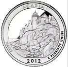 US QUARTER DOLLAR UNC 2012 MAIN ACADIA NATIONAL PARK S P D Mint COINS