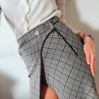 Zara Contrasting Checked Skirt Size SMALL & LARGE BNWT