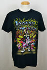 Looney Tunes Rock Band T-shirt Concert Tour Graphic Tee Cotton Black NWT image