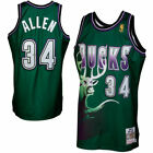 Ray Allen 34 Milwaukee Bucks Mens Green Throwback Jersey
