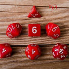 7X Dice Set TRPG For DND Multi Sided D4-D20 Acrylic Transparent 6 Colors EQY