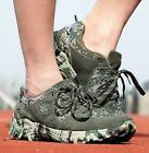 Mens Military Combat Sneakers Casual Outdoor Hiking Shoes Waterproof Camo Shoes