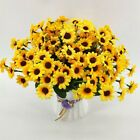 3pcs Silk Sunflower Artificial Flower Fake Flores Bouquet Wedding Party Decor