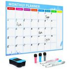 Refrigerator Magnetic Calendar Weekly Monthly Planner Erasable Schedule Sticker