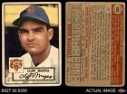 1952 Topps #103 Cliff Mapes Tigers POOR