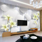 Custom 3D Photo Wallpaper Modern Flower Large Mural Non-woven Wallpaper For