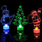 Christmas Changing Color Small Night Light LED Lamp Ornaments Festival Gift