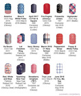 Red, White & Blue Patriotic designs ~ Jamberry nail wraps ~ HALF sheets