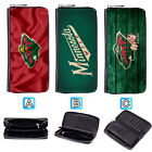 Minnesota Wild Leather Long Wallet Purse Zip Women Handbag $15.99 USD on eBay