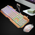 Wired USB Illuminated PC Ergonomic Gaming Keyboard Mouse Set Home Office Gaming