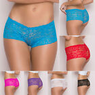 Lady Sexy Lace Boxer Briefs Thongs Lingerie Underwear Knickers Soft Slim Fit New