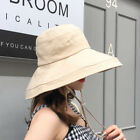 Women's Anti-UV Wide Brim Summer Beach Cotton Bucket Sun Protective Hat Fashion