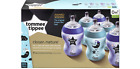 New 6x Tommee Tippee  260ml 9oz Feeding Bottles Night BBA FREE Blue/ Pink