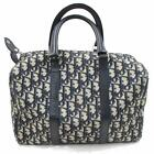 Authentic Christian Dior Hand Bag  Navy Blue Canvas 271457