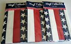 PATRIOTIC Vinyl Tablecloth Assortment  STARS AND STRIPES [Your Choice]