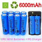 Ultrafire 18650 Battery 6000mAh 37V Li-ion Rechargeable Batteries For Torch Lot