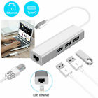 USB3.0 Type C to USB RJ45 Ethernet Lan Adapter Hub Cable for Macbook PC