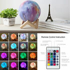 3D Star Moon LED Lamp RGB Color Changing Touch Desk Night Light Hone Decor SS872