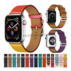 Genuine Leather Strap for Apple Watch Band Series 5 4 3 2 iWatch 44mm 42mm 40mm image