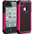 Soft Shockproof Workman Rugged Hard Hybrid Case Cover For Apple iPhone 4 5 5C SE
