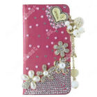 Flip Magnetic Leather Wallet Case Cover For ZTE Rhinestone Stand Holder Shell