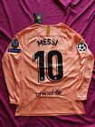 Lionel Messi 2018/19 FC Barcelona Third Pink Long Sleeve Jersey