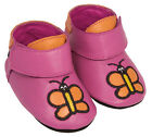 Girls Pedoodles Shoes Pink Leather Brand New With A Tote Bag 0-6 Months Old