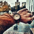 Wood Watch Men relogio masculino Week and Date Display image