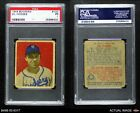 1949 Bowman #100 Gil Hodges Dodgers PSA 1 - POORBaseball Cards - 213