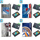 New York Rangers Leather Card Case Holder Aluminum Pocket Wallet $11.99 USD on eBay