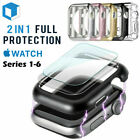 Apple Watch Series 5 /4 /3/2/1 Bumper Case 40MM 44MM Full Cover Screen Protector