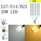 E27/E14/B22 20W 5050 SMD LED Warm/Pure White Home Energy Save Corn Light 110V