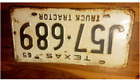 1965 65 Texas License Plate Vintage Antique Classic chevy ford Decor